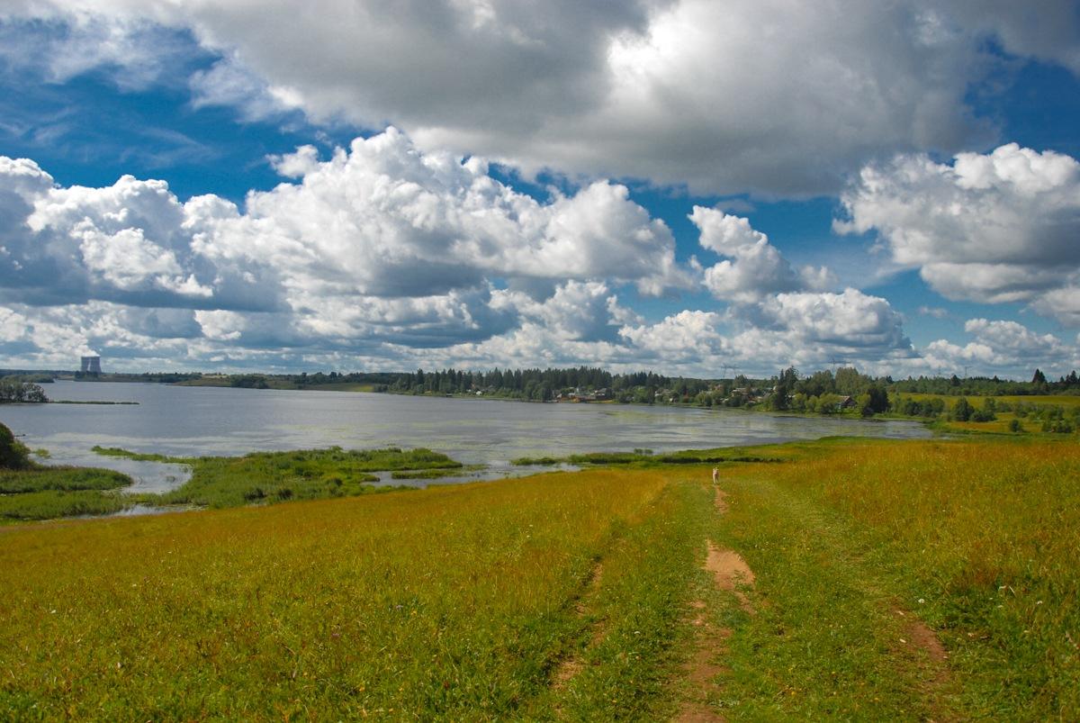 Озеро Удомля у д.Гарусово. Автор фото: Вячеслав Степанов